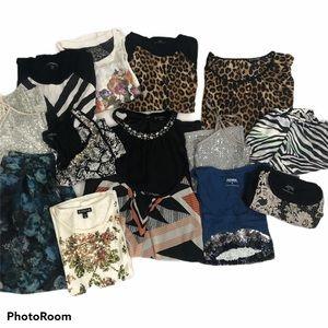 Express Lot of 14 Tops Skirt Tanks Bundle Xs S M